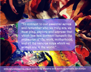 Giving free rein to creative expression and play is vital.